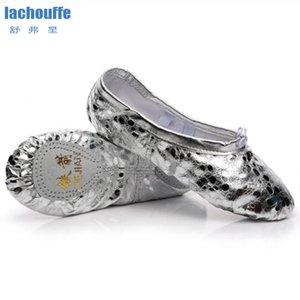 أطفال الباليه أحذية الرقص الشظية الذهب أحذية ممارسة اليوغا للرقص المرأة بو الجلود الباليه Gilr لينة وحيد راقصة الباليه حذاء