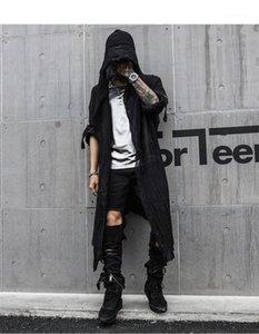 Soild Farbe Fashion Style Lange Kleidung Homme Cardigan Lässige Kleidung lose Designer Herren Frühlings-neue Hoodies