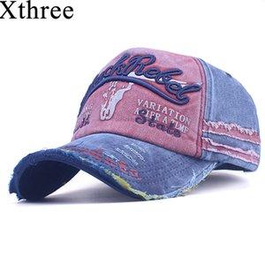 Xthree Erkek Baseball Cap Kadınlar Snapback Şapka Erkekler Kemik Casquette Hip hop Marka Casual Gorras Ayarlanabilir Pamuk Hat Caps