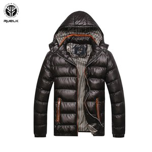 RUELK Men's Autumn And Winter New Cotton Coat Men's Korean Version Of The Collar Fashion Classic Solid Color Slim Warm Men