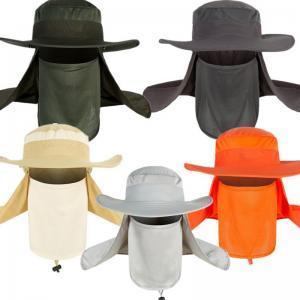 Унисекс открытый Рыбалка шляпа спорт пешие прогулки УФ защита лица шеи крышка лоскут Маска лето солнце Cap широкими полями LJJW88