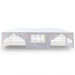 Expedição 10 x 30FT Canopy Partido Outdoor livre US 3x9m Tent casamento Heavy Duty Gazebo Pavilhão Branco com 8 Sides Atacado