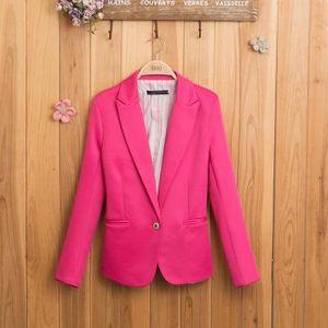 Mulheres casacos de grife Moda Feminina Terno Blazer Doce Cor Blazers Casaco jaquetas OL Outwear Feminino roupas de grife das mulheres