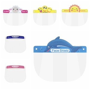 Kids Children Safety Faceshield Transparent Full Face Cover Protective Film Tool Anti-fog Face Shield Designer Masks RRA3277