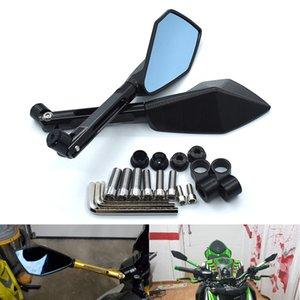 KAWASAKI HONDA SUZUKI YAMAHA DUCATI KTM için Motosiklet Dikiz Yan Aynalar Arka Çifti Tam CNC Alüminyum İçin
