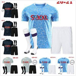 Adult Kit 20 21 Manchester JESUS DE BRUYNE KUN AGUERO city soccer jersey 2020 2021 MAN SANE MAHREZ football jersey shirt