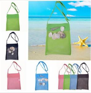Inflant Бич Mesh мешок младенец Пляж Shell Сумка Сумка Детский Бал мешок Пляж песок Игрушка сумка для хранения сокровищ Игрушки для отвода воды Tote DYP400
