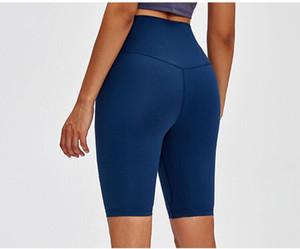 sport di moda di yoga vita alta breve GYM Predellino Shorts 4-Way Stretch Fabric esercizio di allenamento di formazione Pantaloncini Leggings breve yoga