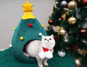 Natal Quarto Pet Aqueça Kennel Felt Litter Cat Dog House xiao gou wu Pet Shop Cat Bed Pet sono wo