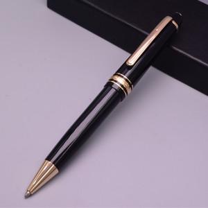 Negro de lujo resina y metal 145 Rollerball / Bolígrafo Pluma Pluma escuela / oficina regalo Plumas de la escritura