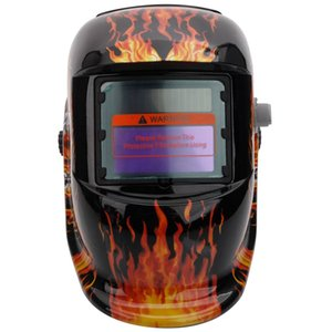 Atualizado Solar Powered Auto Escurecimento Welding Helmet com crânio chicanas e Crânio Baffles