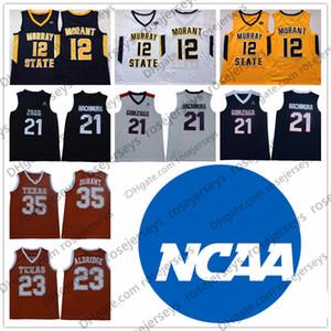 2019 Murray State Yarışçıları 12 Ja Morant Texas Longhorns Durant 23 Aldridge Gonzaga Bulldogs 21 Rui Hachimura # 35 Kevin LaMarcus Forması 3XL