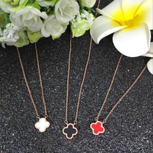 Clover Anhänger Halskette weiblichen Titan Stahl Schmuck japanische und koreanische Mode Claviclekette Freundin Student Geburtstagsgeschenk