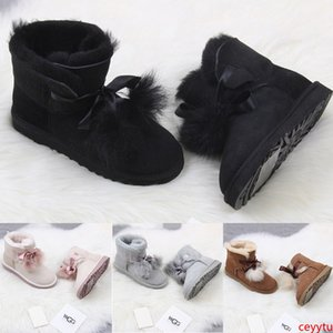 Newest winter Australia Classic snow Boots High Quality WGG tall boots real leather Bailey Bowknot women's bailey bow Knee Boots shoes