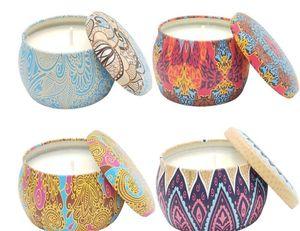 Boîte Aroma Tin Bougie Bougies Aromathérapie Chevaux naturels Bouche de fer Marry Un compagnon cadeau Soy Wax Sales Hot 12 Confortable 9ymC1