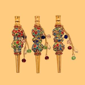 Новейшие роскошные алмазные украшения красочные кальяны Shisha курить регламент ручки мундштук держатель ожерелье подвески подвески портативный съемный DHL