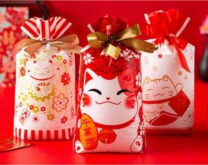 졸라 매는 끈 사탕 가방 산타 클로스 크리스마스 트리 엘크 눈 식품 스토리지 가방 선물 포장 패키지와 새로운 50 개 PC를 크리스마스 취급 가방