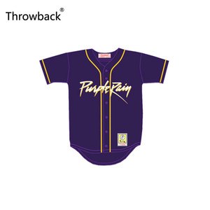 Throwback Prince-Tribute Purple Rain Baseball Jersey Patch point personnalisé Votre nom Numéro Jersey Film