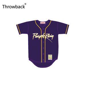 Prince retroceso tributo lluvia púrpura Jersey de béisbol con Patch Custom Stitch Su Nombre Número de película Jersey