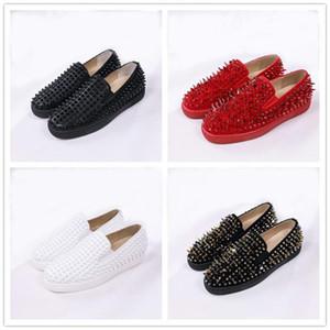 Designer Shoes Roller-Boat Uomo fannulloni piani inferiore rossa casual Platform Spikes sandalo delle donne spikers formatori 35