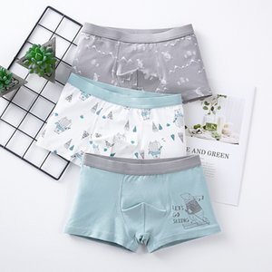 Children's Underwear Baby Cotton Briefs Cartoon Print Underpants 6 8 10 12 14 Years Striped Toddler Panties Boys Briefs 3pcslot CX200530