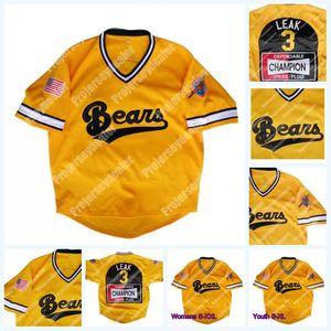 3 Kelly Kaçak Kötü Haber Ayıları Altın 1978 Git Japonya Beyzbol Jersey 12 Tanner Boyle İçin Womens Gençlik Çift Dikişli S-4XL