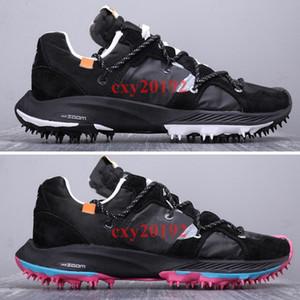 Yeni Varış 2019 OFF-WHITE x Nike Zoom Terra Kiger 5 Atlet Koşu Ayakkabıları Devam Ediyor Erkekler Spor Sneakers 40-45