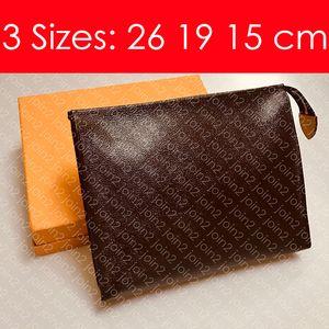 TOUCHETICO DE LA BOLSA 26 19 15 cm Diseñador de moda de las mujeres bolso de embrague Mini Pochette Cosme Bolsa de aseo Cosmético XL Beauty Case Accesorios M47542