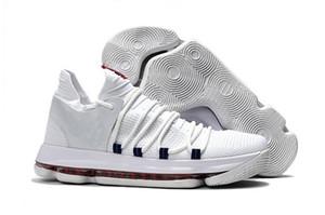 KD 10 crianças tênis de basquete 2018 venda quente Kevin Durant sapatilha FMVP Childrens sapatos loja frete grátis atacado loja tamanho 36-46