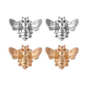 귀여운 실버 / 골드 컬러 꿀벌 귀걸이 작은 패션 스터드 귀걸이 곤충 비행 조류 꿀 귀여운 크리 에이 티브 비 스터드 귀걸이