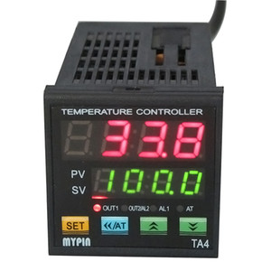 Freeshipping 90-265 В AC / DC оригинальный MYPIN двойной цифровой F / C ПИД регулятор температуры термостат TA4-SNR SSR выход управления + будильник