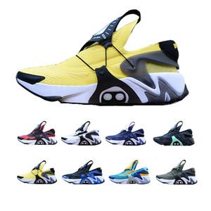 2020 Nike Adapt Huarache nueva llegada adaptar los cordones de los zapatos atar automáticamente el total de los zapatos corrientes de alimentación Cordón Opti Yeloow Hyper Jade