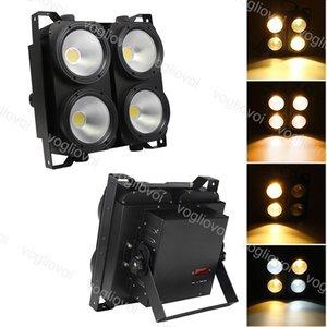 LED Efeitos LED Blinder Luzes 4X100W Matrix Luzes COB Público fundo do estúdio Stage Lighting Par DMX Teatro Disco Efeito DHL