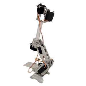 7DOF Aluminium Robot Arm Sliver Mechanical Robotic Clamp Claw for Arduino, with Bluetooth Control Kit (180 Degree)