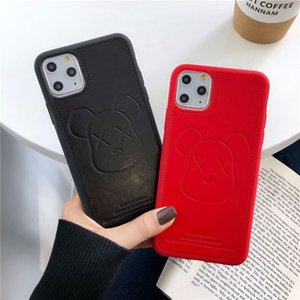 New Luxury Designer Cell Phone Case PU Leather Famous Cartoon Case for iPhone X XS XR Xs 11 Pro Max 6s 7 7plus 8 8plus Cover