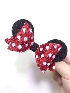 1piece Mouse Glitter Oreilles cheveux Boucles Oreilles Accessoires cheveux Clips Bows Barrette fleur Accessoire 017