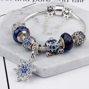 2020 Charm Beads fit for pandora Jewelry 925 Silver Bracelets Snowflake Pendant Bangle blue sky pumpkin cart charms Diy Jewelry with gi2188#