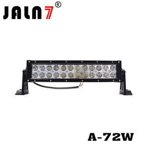 """12 """"72W EE. UU. Óptica de iluminación LED Barra de luz LED Spot Beam-3W 7920LM Off Road Polaris RZR UTV Trucks Jeep Bumper"""