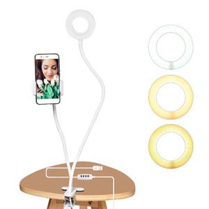 Luz del anillo LED Foto del estudio autofoto con el teléfono celular móvil Soporte para Youtube en vivo de maquillaje de la cámara de la lámpara para el teléfono móvil