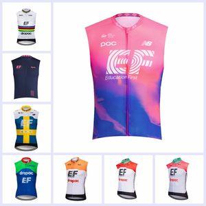 2019 Sıcak Satış EF Eğitim Ilk Takım Bisiklet Jersey Yaz Erkekler nefes Kolsuz Mtb bisiklet Yelek Bisiklet Spor Üniforma Y061806
