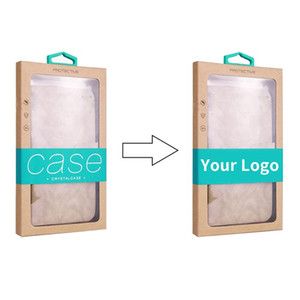 Scatola di imballaggio in carta personalizzata personalizzata con logo personalizzato scatola di imballaggio di carta KARFT per iPhone 8 XS 12 Pro Max per Samsung S20 Plus Custodia per cellulare Ultra
