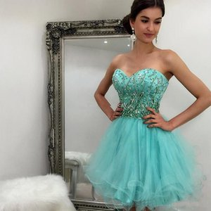 Minit Green Short Prom Vestidos de fiesta Sweetehart Beaded Lequins Homecoming Dresses Cheap Club Wear Dress Custom Made
