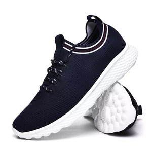 with free socks NEW Cheap Designer white black blue men special section sports sneaker increased Breathable Jogging running shoes EUR 36-44