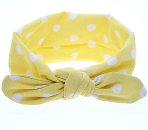 7 Colors Lovely bowknot headbands Polka Dots Butterfly Print kids Hair accessories fashion lovely bow kids baby children hairband free ship