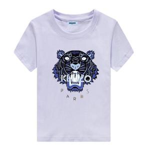 BrandKENZO 어린이 의류 여름 새로운 어린이 T - 셔츠 면화 하이 엔드 편안 버스트 모델 라운드 아동 의류