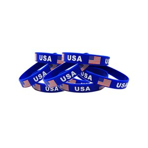 USA Silicone Bracelet 2020 US Presidential Election Flag Wristband Trump Supporter Bracelet Fast Free Shipping DHA83