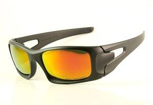 Neue Marke Polarisierte schwarze Sonnenbrille Designer OO9165 Iridium Kurbelgehäuse Brille Mens / Womens Sonnenbrille Luxus Feuer Brillen Objektiv PABPW
