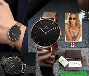 досуг 3240mm Женщины Мужчины Часы из нержавеющей стали Кварцевые Наручные часы Секундомер Оригинальная коробка Free Ship relogies для мужчин Relojes лучший подарок