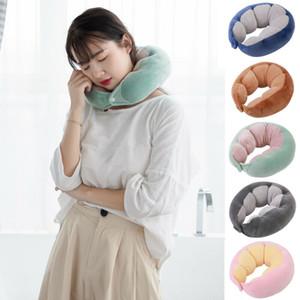 1PC a forma di U Memory Foam Neck morbidi cuscini rimbalzo lento Space Travel Pillow collo cervicale Sanità Bedding Drop Shipping