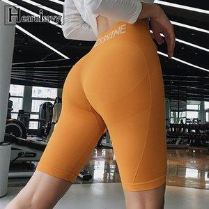 Summer High Waist Sport shorts For Women Workout Leggings Fitness Shorts GYM Running Yoga Athletic Short Compression Leggings T200605